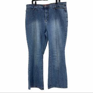 Sz 22 Plus Zana Di 9413  Denim Jeans Womens Blue
